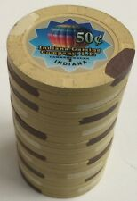 (20) $.50 ARGOSY CASINO PAULSON POKER CHIPS