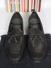 NEW Paul Smith 'GRAHAM' Brown Dip Dye Wash Suede Tassel Loafer Shoes UK 10 10.5