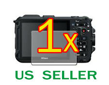 1x Nikon Coolpix AW100 AW100s Clear LCD Screen Protector Guard Shield Film