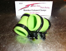 Yamaha Banshee exhaust pipe clamps all years fmf,dg, Factory (GREEN)