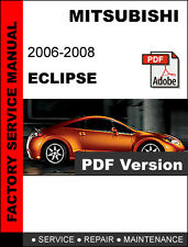 MITSUBISHI ECLIPSE 2006 - 2008 FACTORY OEM SERVICE REPAIR WORKSHOP FSM MANUAL