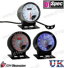 D1 SPEC EXHAUST TEMP. GAUGE 60mm WHITE IMPREZA WRX STI SUPRA MR2 EVO 7 8 350Z