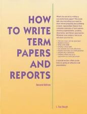 How To Write Term Papers & Reports 2nd Ed McGraw-Hill Education Paperback