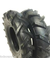 TWO New 4.00-8 Lug Tires & Tubes Garden Tillers 4 ply can replace 4.80-8