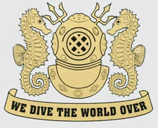 We Dive The World Decal Sticker! 200-67 JB company