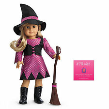 """American Girl MY AG WITCH COSTUME for 18"""" Dolls + Charm Hat Boot Dress Broom NEW"""