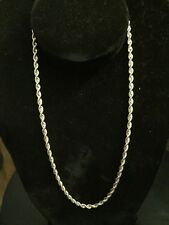 """Solid 14K Yellow Gold Rope Chain Necklace 20"""", 4 mm & 25.2 Grams """"Heavy"""" Sale!"""