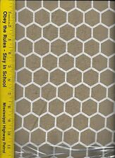 QUILT FABRIC: 100% COTTON, KHAKI HONEYCOMB, By The Yard