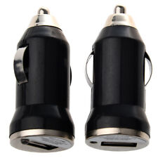 2x usb Black Car Charger Adapter for Apple phone AD
