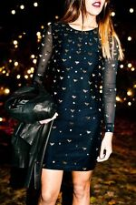 ALICE BY TEMPERLEY BLACK/ GOLD Sapphire Dress Size 16  RRP £465 .....   #