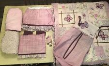 7 Pc Cocalo Sugarplum Crib Nursery Bedding Set Quilt Fitted Sheet Skirt Valance