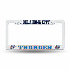 "Oklahoma City Thunder NBA 12"" x 6"" Plastic License Plate Frame OKC by Rico"