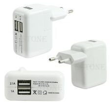 2.1A/1A Dual 2-Port USB Wall Adapter Charger EU Plug For iphone Samsung S4 S5