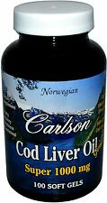 Super Cod Liver Oil, Carlson, 100 softgels