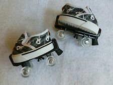 Build a Bear Workshop slip-on Black & white shoes guitar pattern & Roller Skates