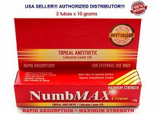 2 NumbMAX Topical Anesthetic Tattoo Speed Numbing Cream Maximum Strength 2x10g