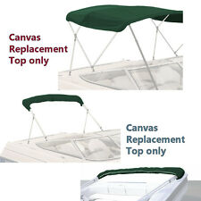 "BIMINI TOP BOAT COVER CANVAS FABRIC GREEN W/BOOT FITS 4 BOW 96""L 54""H 67""-72""W"