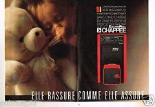 Publicité advertising 1986  (2 pages) La Chaudière electro fioul Chappée