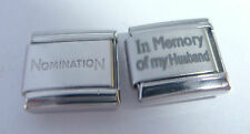 IN MEMORY OF MY HUSBAND 9mm Italian Charm + 1x Nomination Classic Link LOVE N108