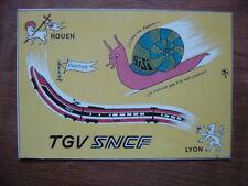 carte postale Postcard illustrateur THINLOT TGV Rouen Lyon SNCF chemin de fer