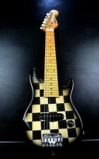 TOP ELECTRIC GUITAR VOLCANO CHECKERS DESIGN 1/2 SIZE+GIG BAG~EXCELLENT CONDITION