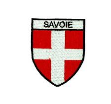 Flag patch shield souvenir iron / sew badge backpack ski savoie savoy france