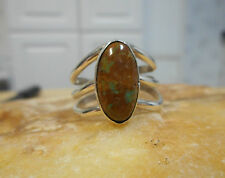 Ring Native American Sterling Silver Turquoise By Navajo Ida McCray Size 8 3/4