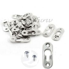 20Pcs Picture Frames Keyhole Hanger 42mm x16mm Frame Mirrors Shelfs 2-Hole+Screw