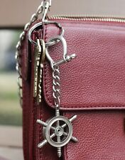 Kikkerland Nautical Ships Wheel Keyring Metal Key Chain Maritime Boat Gift Xmas