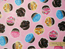 Cup Cake Cupcake Softie Minky Minkee  Fabric  by the FAT 1/2 Yard