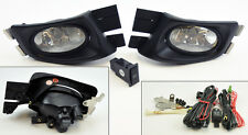 Honda Accord 03-05 4dr Sedan JDM Clear Front Fog Lights Pair RH LH w/ wiring