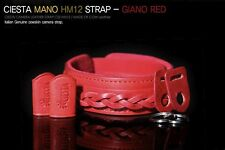 Ciesta Mano Giano Red Leather Neck Strap Sony Olympus Fuji Canon Leica
