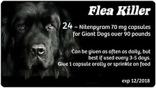 Spring Sale ~~ Generic Capstar Flea Meds for Dogs over 90 lbs ~ 24 Blk Capsules