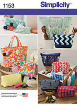 Simplicity Pattern 1153 ACCESSORY BAGS IN VARIOUS SIZES organizers zip cases
