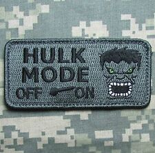 HULK MODE ON ARMY USA MILITARY MORALE COMBAT BADGE ACU HOOK & LOOP PATCH