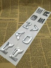 RANGE ROVER Chrome ABS Word Trunk Emblem Decal Letters Sticker for LAND ROVER