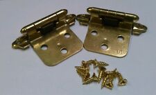 CABINET HINGE BRASS COLOR OVERLAY FLUSH MT 25 PAIR