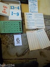 VINTAGE 1958 QUIZMO ARITHMETIC ADDITION SUBTRACTION GAME #9309 MILTON BRADLEY **