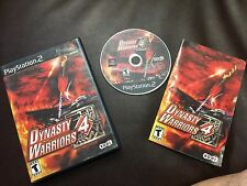 Dynasty Warriors 4 (Sony PlayStation 2, 2003)COMPLETE