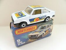 Matchbox Superfast 9c Ford Escort RS2000 - Dunlop - Charcoal Base - Mint/Boxed