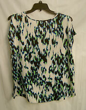 LIZ CLAIBORNE SPLIT SLEEVE SILKY SATIN BLOUSE TOP SHIRT SHELL TANK~1X~0X~XXL~NEW