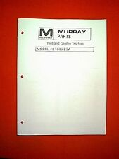 MURRAY TWIN CYLINDER YARD AND GARDEN TRACTOR MODEL # 46100X25A PARTS MANUAL