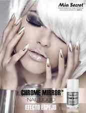 1 Mia Secret  Mirror Effect Polish Chrome Mirror Nail Liquid UV Base Top Gel Set