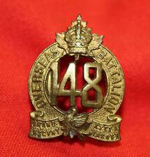 C.E.F. 148th INFANTRY BATTALION (Montreal) Collar Badge-Birks 1916