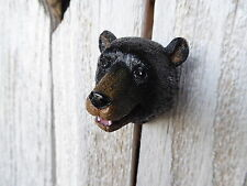 Black BEAR Head Grizzley Brown Bear KNOB Rustic Cabinet DRAWER PULL ~ Home Decor