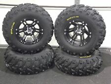 "25"" BEAR CLAW ATV TIRE & ITP SS212 BLK  WHEEL KIT LIFETIME WARRANTY  SRA"