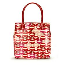 LULU GUINNESS Laminate ELOUISE Red Lip Blot Tote Bag with Dustbag