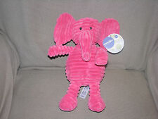 "12"" Babies R Us Hot Pink Elephant Ribbed Chenille Stuffed Animal Plush Toy Cord"