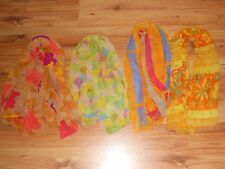 Vintage Silk Scarves Lot 4 Oblong & Square