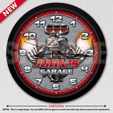 Hot Rod - Man Cave Garage - Personalized Mechanic Wall Clock - Tool Man